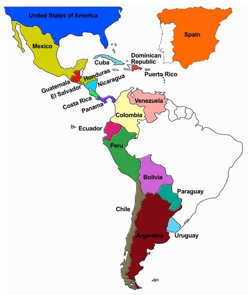 latin american spanish countries